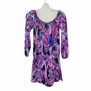 Lilly Pulitzer Pink Purple Patterned Romper XS
